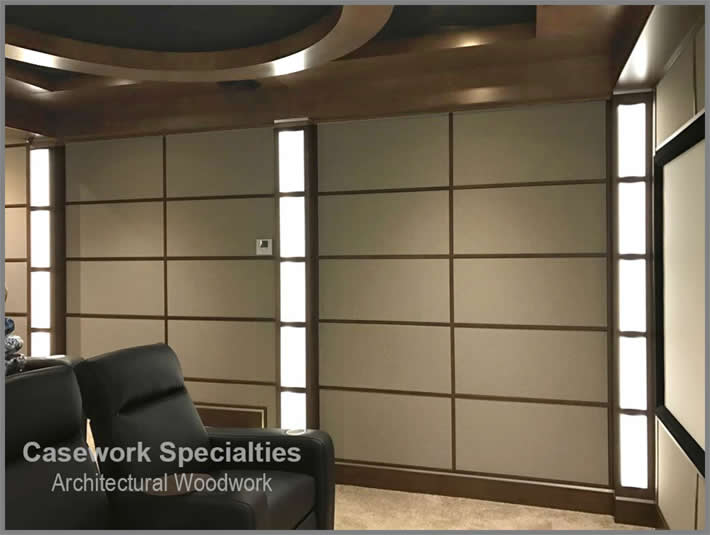 Theater acoustic wall panels